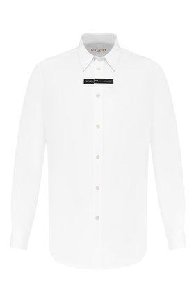 Мужская хлопковая рубашка GIVENCHY белого цвета, арт. BM60G4109F | Фото 1