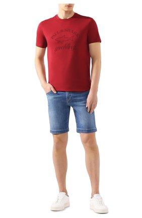 Мужская хлопковая футболка PAUL&SHARK бордового цвета, арт. C0P1007   Фото 2