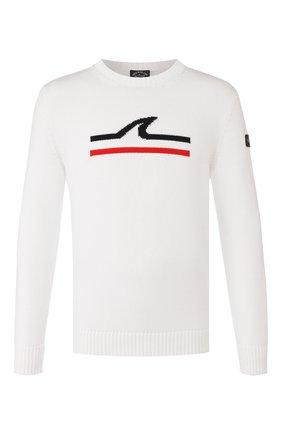 Мужской хлопковый свитер PAUL&SHARK белого цвета, арт. P20P1576 | Фото 1