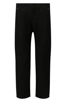 Мужской льняные брюки ISAAC SELLAM черного цвета, арт. ELAB0RE-LIN0 | Фото 1