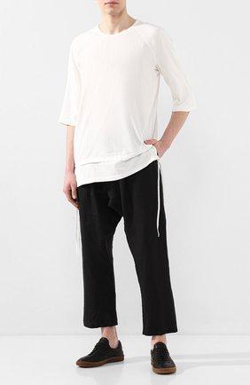Мужской льняные брюки ISAAC SELLAM черного цвета, арт. ELAB0RE-LIN0 | Фото 2