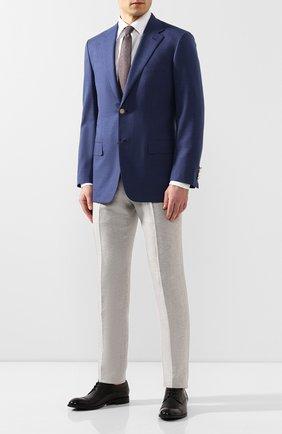 Мужской пиджак из смеси шерсти и шелка BRIONI темно-синего цвета, арт. RGH00U/P9A8F/PARLAMENT0 | Фото 2
