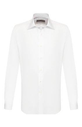 Мужская хлопковая сорочка CANALI белого цвета, арт. N705/GR01586/S | Фото 1