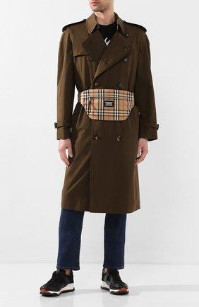 Мужская текстильная поясная сумка BURBERRY бежевого цвета, арт. 8027159 | Фото 2