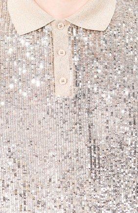 Мужское поло с пайетками SAINT LAURENT серебряного цвета, арт. 601538/YB0K2 | Фото 5