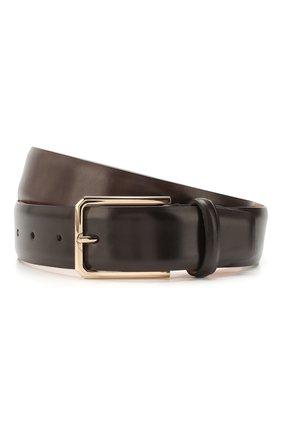 Мужской кожаный ремень SANTONI темно-коричневого цвета, арт. CM35NS003B91H0BRT53 | Фото 1