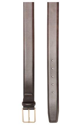 Мужской кожаный ремень SANTONI темно-коричневого цвета, арт. CM35NS003B91H0BRT53 | Фото 2