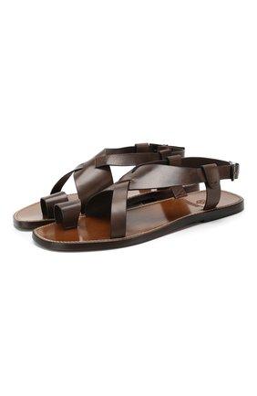 Мужские кожаные сандалии SILVANO SASSETTI темно-коричневого цвета, арт. S19955X409AELBAPI0M | Фото 1
