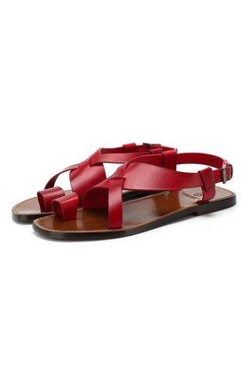 Мужские кожаные сандалии SILVANO SASSETTI красного цвета, арт. S19955X409AELBAR0S. | Фото 1