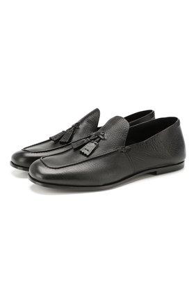 Мужские кожаные лоферы SILVANO SASSETTI черного цвета, арт. S19960X414BCABUNER. | Фото 1