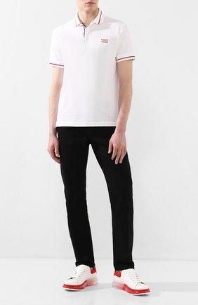 Мужские кожаные кеды ALEXANDER MCQUEEN белого цвета, арт. 604232/WHX9V | Фото 2