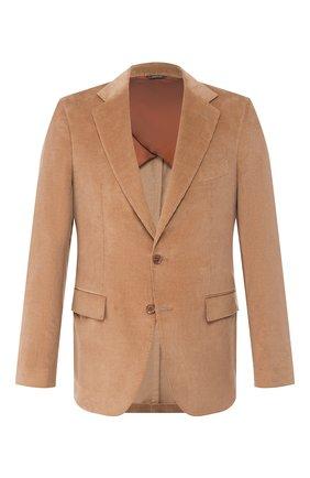 Мужской пиджак из смеси хлопка и кашемира LORO PIANA бежевого цвета, арт. FAL0431 | Фото 1