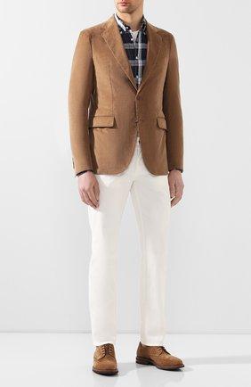 Мужской пиджак из смеси хлопка и кашемира LORO PIANA бежевого цвета, арт. FAL0431 | Фото 2
