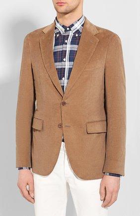 Мужской пиджак из смеси хлопка и кашемира LORO PIANA бежевого цвета, арт. FAL0431 | Фото 3