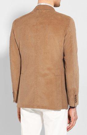 Мужской пиджак из смеси хлопка и кашемира LORO PIANA бежевого цвета, арт. FAL0431 | Фото 4