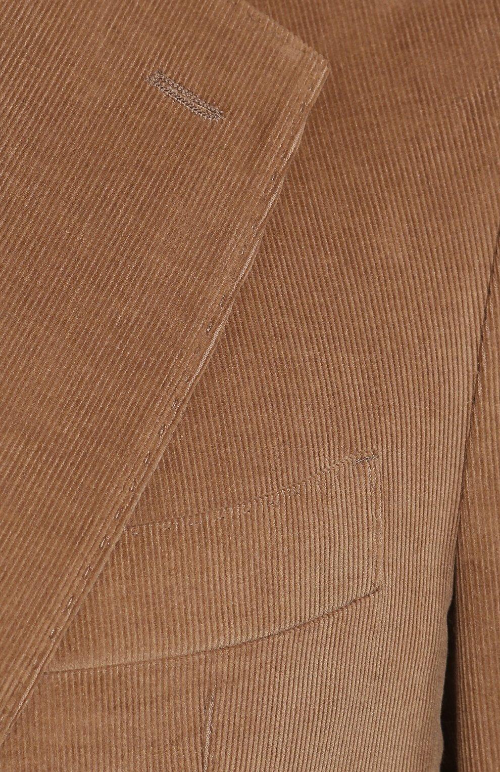 Мужской пиджак из смеси хлопка и кашемира LORO PIANA бежевого цвета, арт. FAL0431 | Фото 5