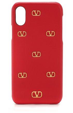 Мужской чехол valentino garavani для iphone x/xs VALENTINO красного цвета, арт. TW2P0S87/DRT | Фото 1