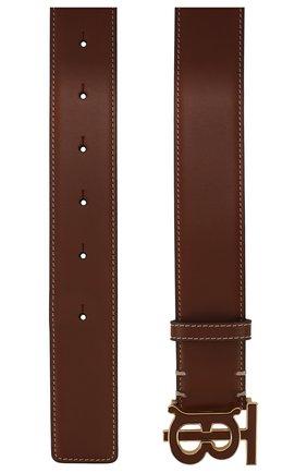 Женский кожаный ремень BURBERRY коричневого цвета, арт. 8027792 | Фото 2