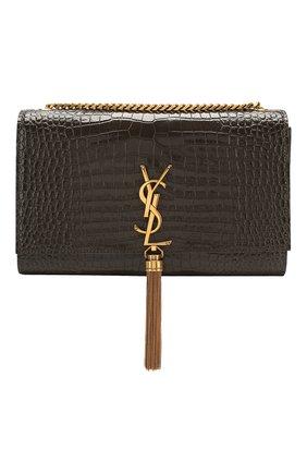 Женская сумка kate medium SAINT LAURENT темно-серого цвета, арт. 354119/DND0W | Фото 1
