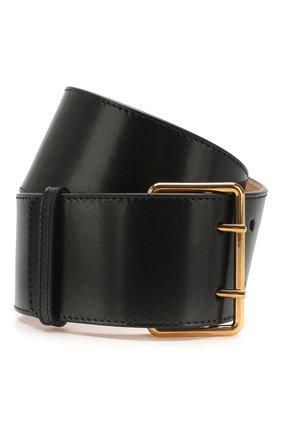 Женский кожаный пояс ALEXANDER MCQUEEN черного цвета, арт. 621405/1BR0T | Фото 1