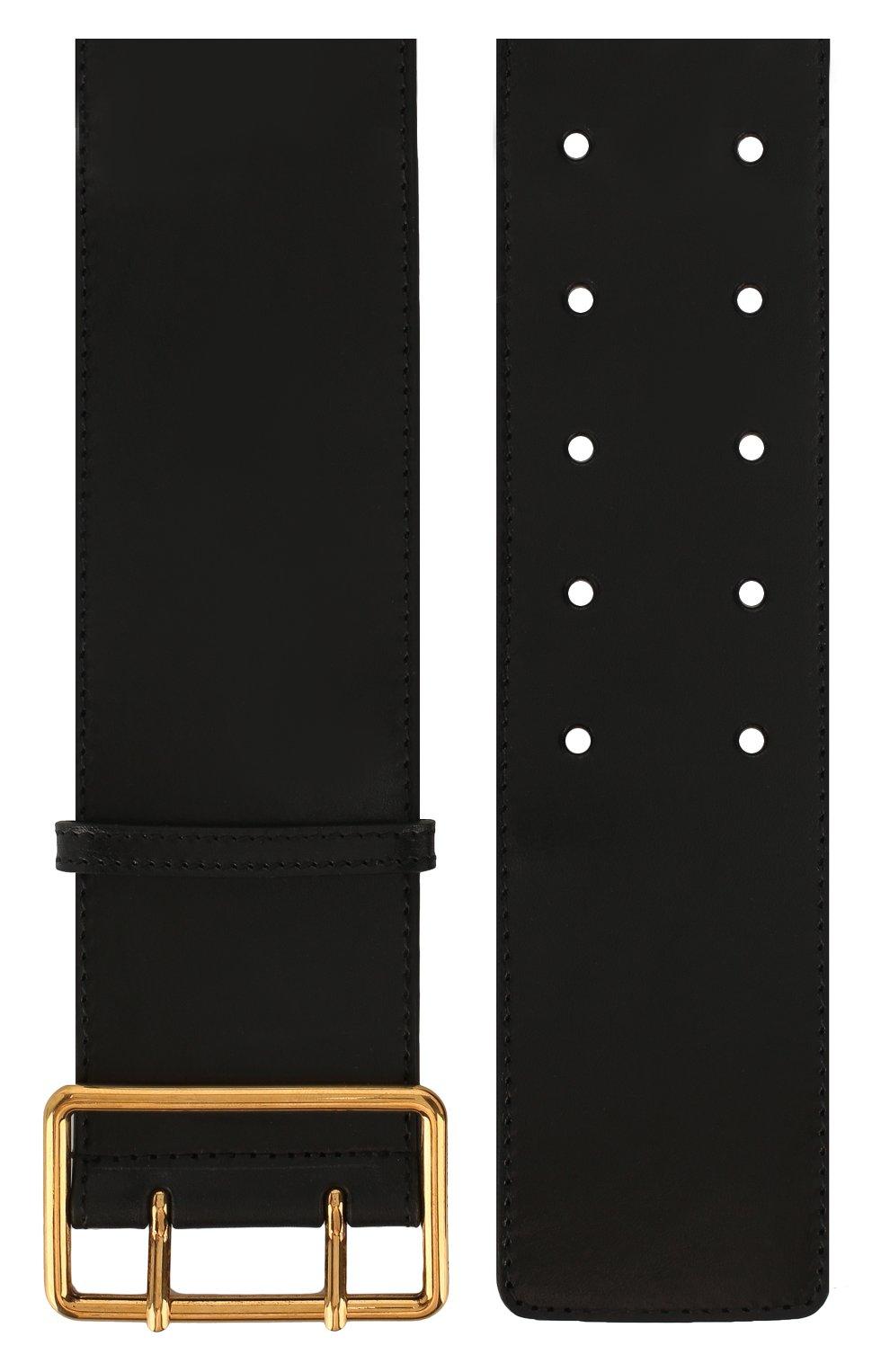 Женский кожаный пояс ALEXANDER MCQUEEN черного цвета, арт. 621405/1BR0T | Фото 2