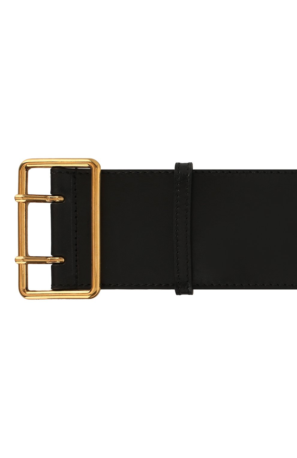 Женский кожаный пояс ALEXANDER MCQUEEN черного цвета, арт. 621405/1BR0T | Фото 3