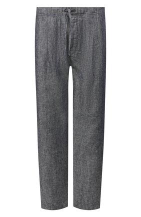 Мужской льняные брюки 120% LINO синего цвета, арт. R0M2968/E425/100 | Фото 1