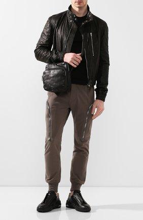 Мужская кожаная сумка DANIELE BASTA черного цвета, арт. DB691X17GR/DAREN GR | Фото 2