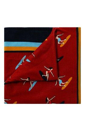 Мужские хлопковое полотенце DOLCE & GABBANA красного цвета, арт. M0A00T/FI7JJ | Фото 1