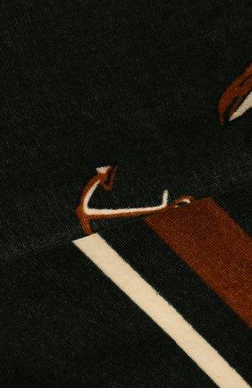 Мужские хлопковое полотенце DOLCE & GABBANA темно-зеленого цвета, арт. M0A00T/FI7JI | Фото 2