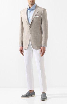 Мужской пиджак из смеси кашемира и шерсти KITON светло-бежевого цвета, арт. UG81K06S00 | Фото 2