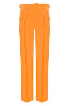 Мужские шелковые брюки RALPH LAUREN оранжевого цвета, арт. 798794566   Фото 1