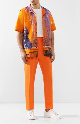 Мужские шелковые брюки RALPH LAUREN оранжевого цвета, арт. 798794566   Фото 2