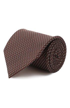 Мужской комплект из галстука и платка BRIONI бордового цвета, арт. 08A900/P942F | Фото 1