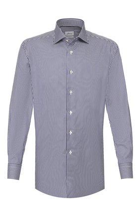Мужская хлопковая сорочка BRIONI синего цвета, арт. RCL80Z/P905V | Фото 1