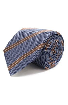 Мужской шелковый галстук CORNELIANI голубого цвета, арт. 85U306-0120312/00 | Фото 1