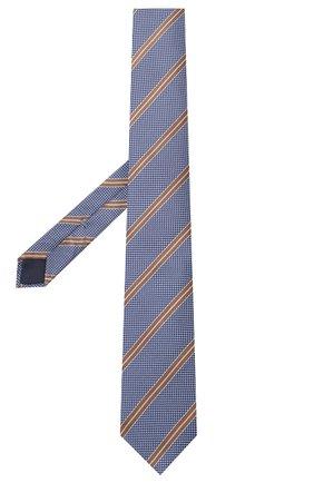 Мужской шелковый галстук CORNELIANI голубого цвета, арт. 85U306-0120312/00 | Фото 2