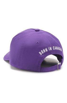 Мужской хлопковая бейсболка DSQUARED2 фиолетового цвета, арт. BCM0306 05C00001 | Фото 2