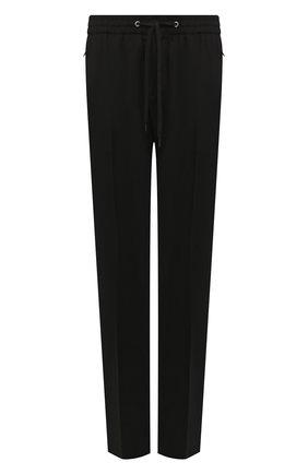 Мужской шерстяные брюки CANALI черного цвета, арт. 91665/PY00670 | Фото 1