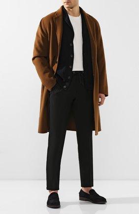 Мужской шерстяные брюки CANALI черного цвета, арт. 91665/PY00670 | Фото 2
