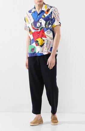 Мужская рубашка из вискозы POLO RALPH LAUREN разноцветного цвета, арт. 710791966/4758 | Фото 2