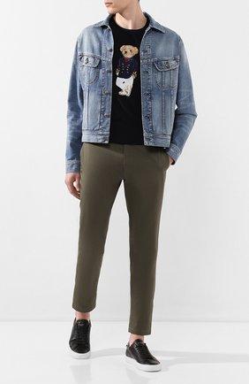 Мужская джинсовая куртка RALPH LAUREN синего цвета, арт. 790787189 | Фото 2