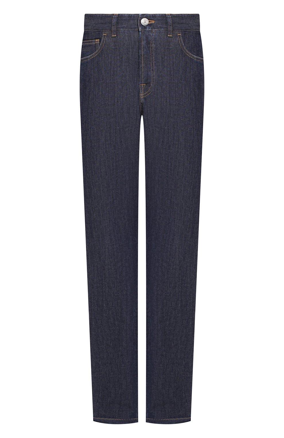 Мужские джинсы BRIONI темно-синего цвета, арт. SPNJ0L/P9D22/STELVI0 | Фото 1 (Силуэт М (брюки): Прямые; Кросс-КТ: Деним; Длина (брюки, джинсы): Стандартные; Материал внешний: Хлопок)