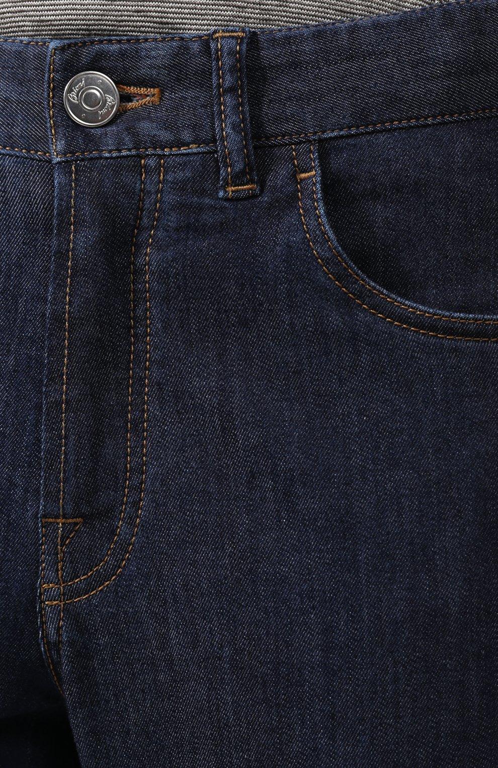 Мужские джинсы BRIONI темно-синего цвета, арт. SPNJ0L/P9D22/STELVI0 | Фото 5 (Силуэт М (брюки): Прямые; Кросс-КТ: Деним; Длина (брюки, джинсы): Стандартные; Материал внешний: Хлопок)