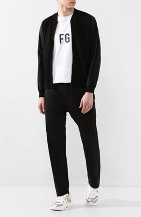 Мужской хлопковые брюки STONE ISLAND SHADOW PROJECT черного цвета, арт. 721930509 | Фото 2