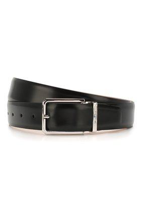 Мужской кожаный ремень SANTONI черного цвета, арт. CM35NS003B90E2VAN01 | Фото 1