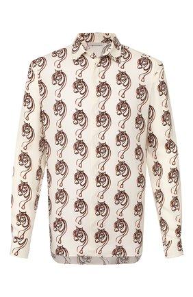 Мужская рубашка из вискозы TRIPLE RRR кремвого цвета, арт. SS20 S013 0032 | Фото 1
