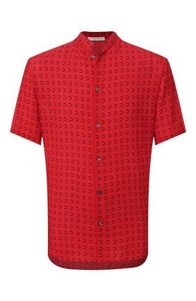 Мужская рубашка из вискозы TRIPLE RRR красного цвета, арт. SS20 S016 0031 | Фото 1