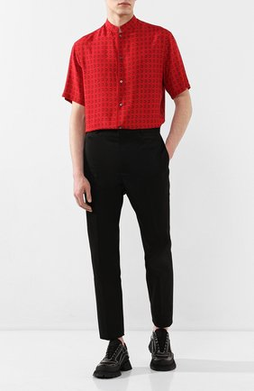 Мужская рубашка из вискозы TRIPLE RRR красного цвета, арт. SS20 S016 0031 | Фото 2
