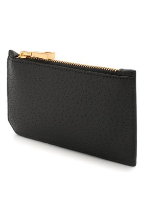 Мужской кожаный футляр для кредитных карт VERSACE черного цвета, арт. DP37855/DG0VV | Фото 2